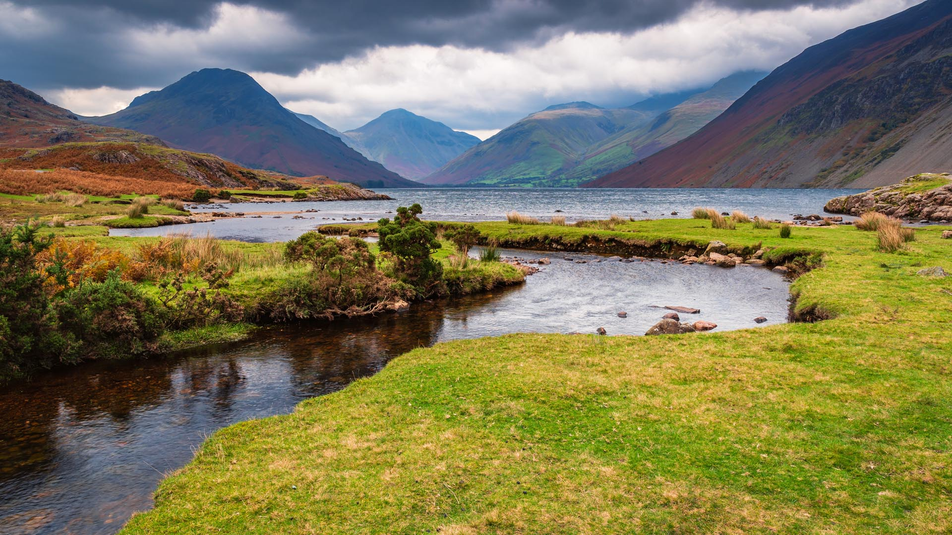 Wastwater with Scafell Pike beyond