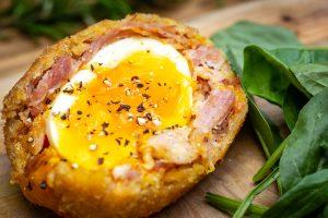 Serving Suggestion: Pulled Ham Hock Scotch Egg