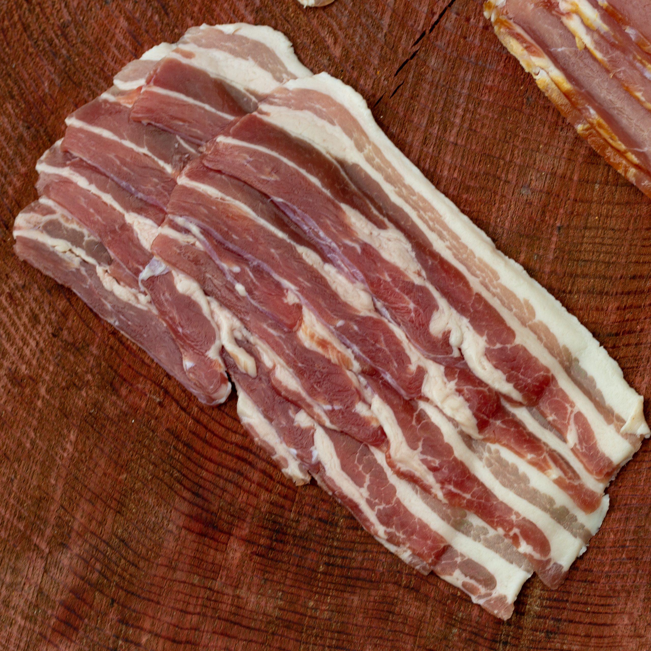 Cumbrian Traditionally dry-cured streaky bacon