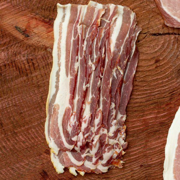 Cumbrian Traditionally dry-cured smoked streaky bacon