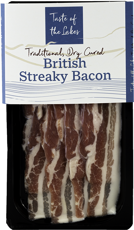 Cumbrian Traditionally dry-cured streaky bacon
