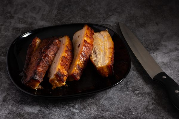 Cooked Belly Pork with Sweet Chilli Glaze