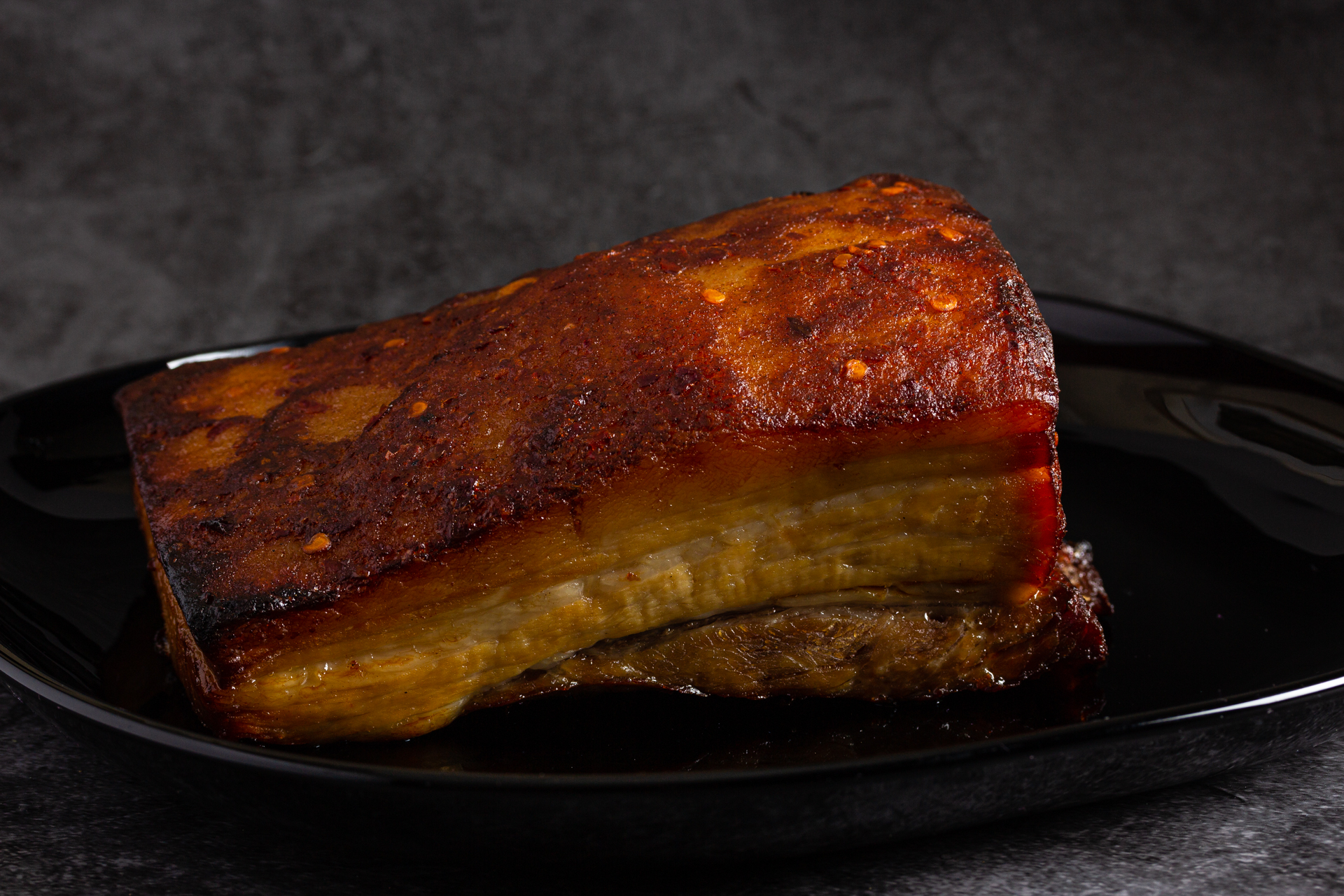 Cooked Belly Pork with Sweet Chillli Glaze